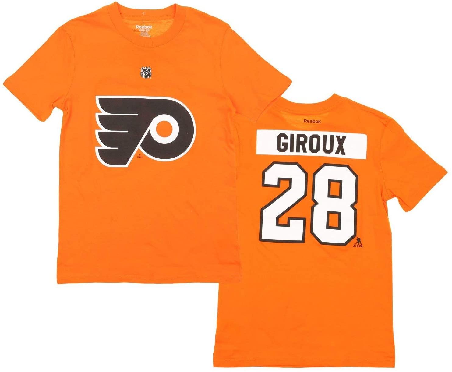 Reebok Philadelphia Flyers NHL Big Boys Youth Claude Giroux # 28 Player Short Sleeve T-Shirt, Orange