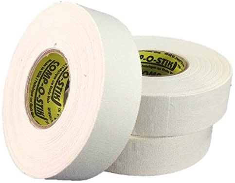 3 Rolls of Comp-O-Stik WHITE Hockey Lacrosse Bat Cloth Stick Tape ATHLETIC TAPE (3 Pack) Made In The U.S.A. 1