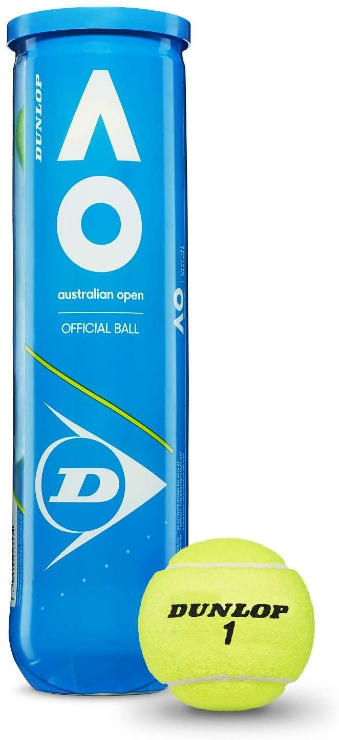 Dunlop Australian Open Tennis Balls (4-Ball Case)