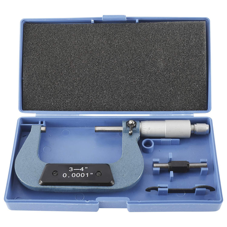 Premium Outside Micrometer, Precision Machinist Tool, 3-4
