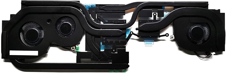 GAOCHENG Laptop CPU GPU Fan Heatsink for MSI GS65 GS65 8RE GS65 8RE MS-16Q2 GS65 9SG 9SF MS-16Q4 GS65 Stealth GS65 9SF MS-16Q4 4-Wire