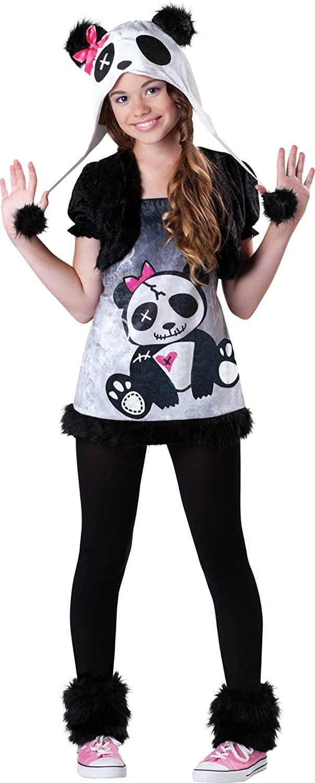 InCharacter Costumes Tween Pandamonium Costume, Black/White, Large