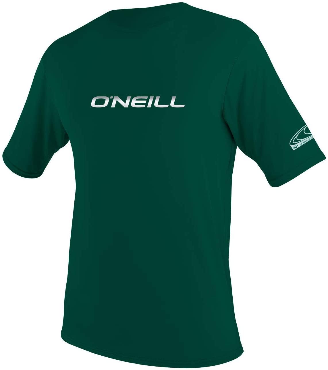 O'Neill Men's Basic Skins Slim Fit Rash Tee M Deep Green (3402IS)