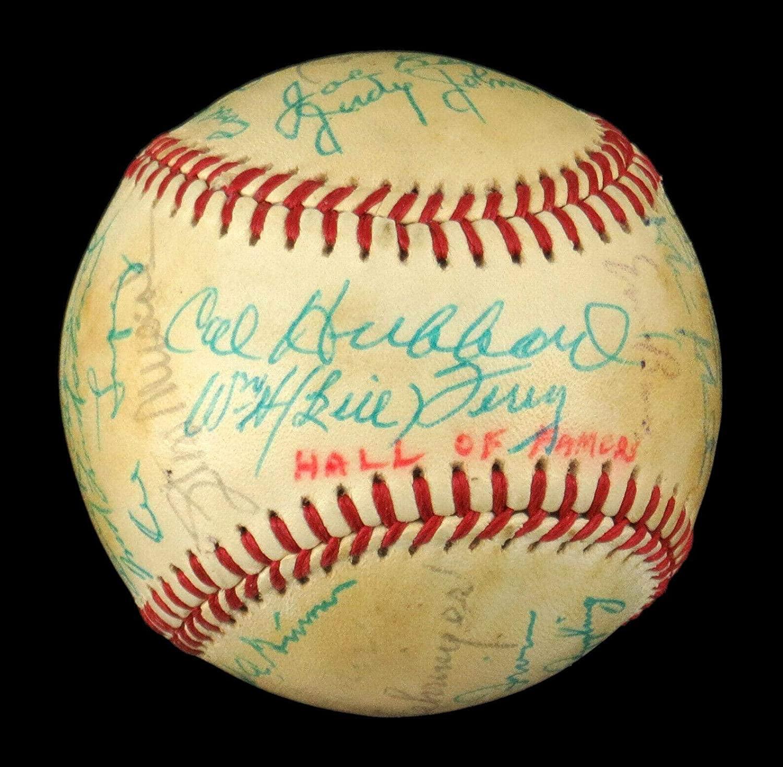 1982 Hall Of Fame Signed Baseball 26 Sigs Ruffing Marquard Lindstrom Kelly - JSA Certified - Autographed Baseballs