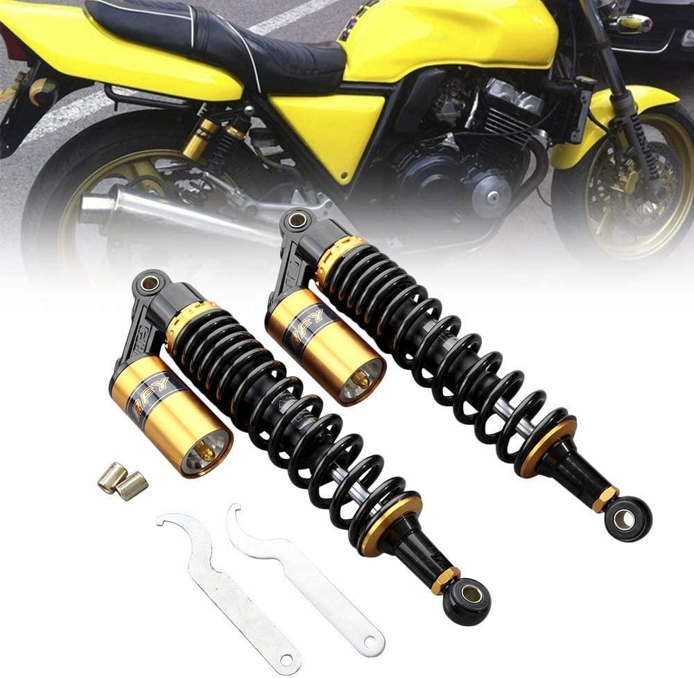 GZYF 12.5 320mm Universal Shock Absorbers Rear Suspension Compatible with Honda CB Yamaha Gokart Kawasaki Suzuki Quad