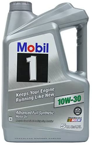 Mobil 1 (112796 10W-30 Synthetic Motor Oil - 5 Quart