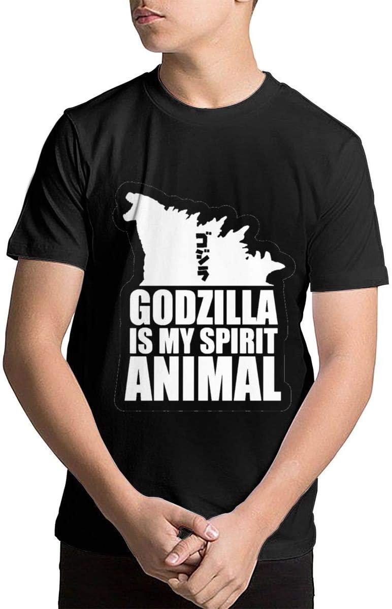 NYF Toddler Boys and Girls Godzilla is My Spirit Animal1 Crewneck T-Shirt Essential T-Shirts Tee