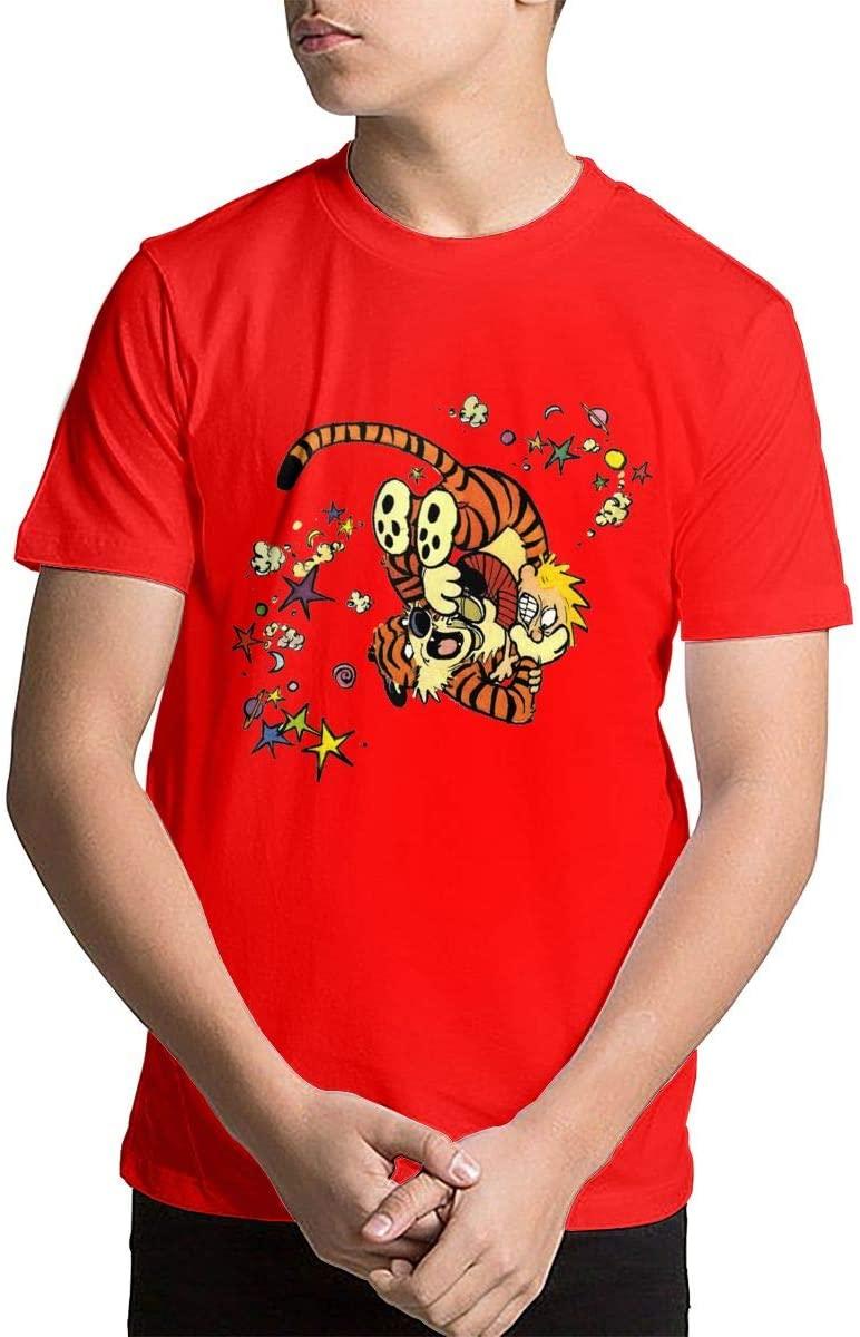 Shenhuakal Child Calvin and Hobbes Shirt Girls&Boys Advanced T-Shirts Tee Black