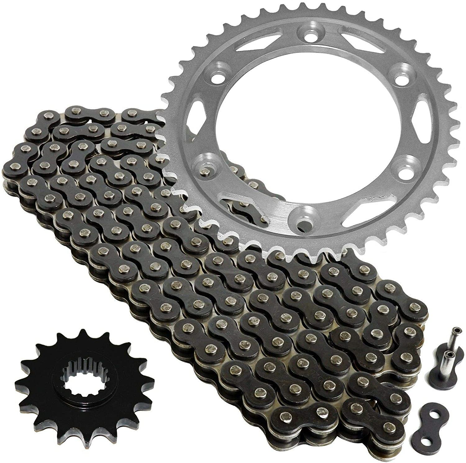 Caltric Black Drive Chain And Sprocket Kit Compatible With Honda Cbr1000S 2004-2016 530-Chain