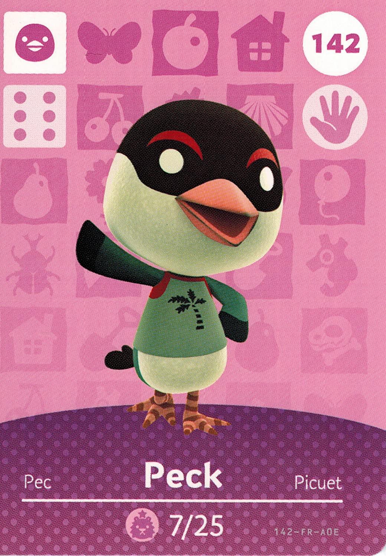 Nintendo Animal Crossing Happy Home Designer Amiibo Card Peck 142/200 USA Version