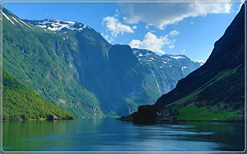 Norway, zoe fjord scenery is beautiful scenery features creative tourism souvenirs Postcard Post card