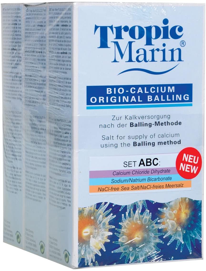Tropic Marin 73206 Bio Calcium Original Balling Set (A+B+C), 3 x 1 kg