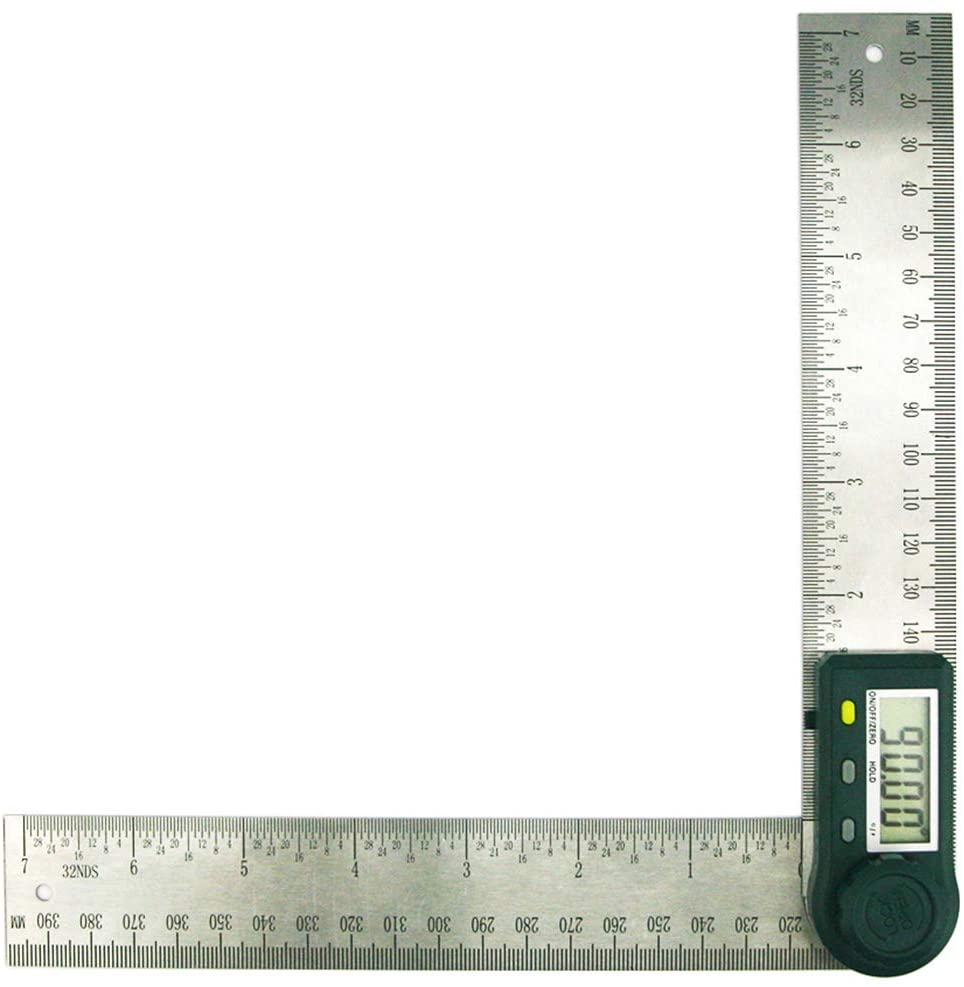 Digital Protractor Angle Finder Stainless Steel Ruler(200mm/7inch)