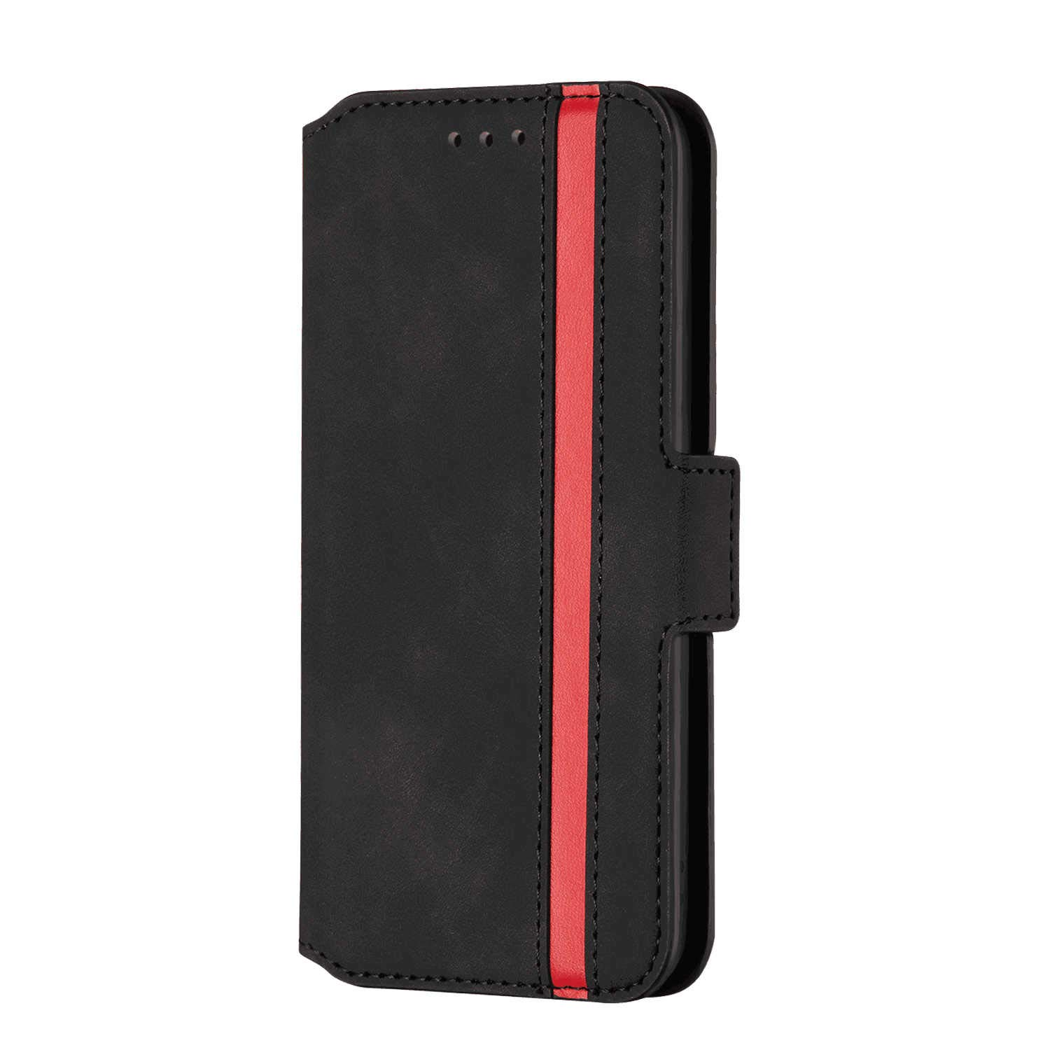 Positive Cover Compatible with iPhone XR, black PU Leather Wallet Flip Case for iPhone XR