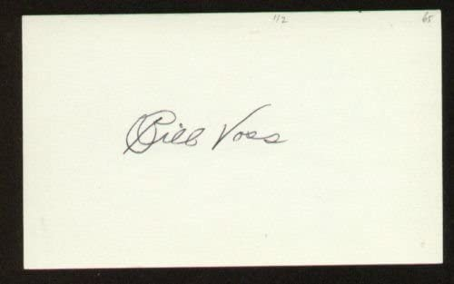 Bill Voss signed autograph 3x5 index card F3248