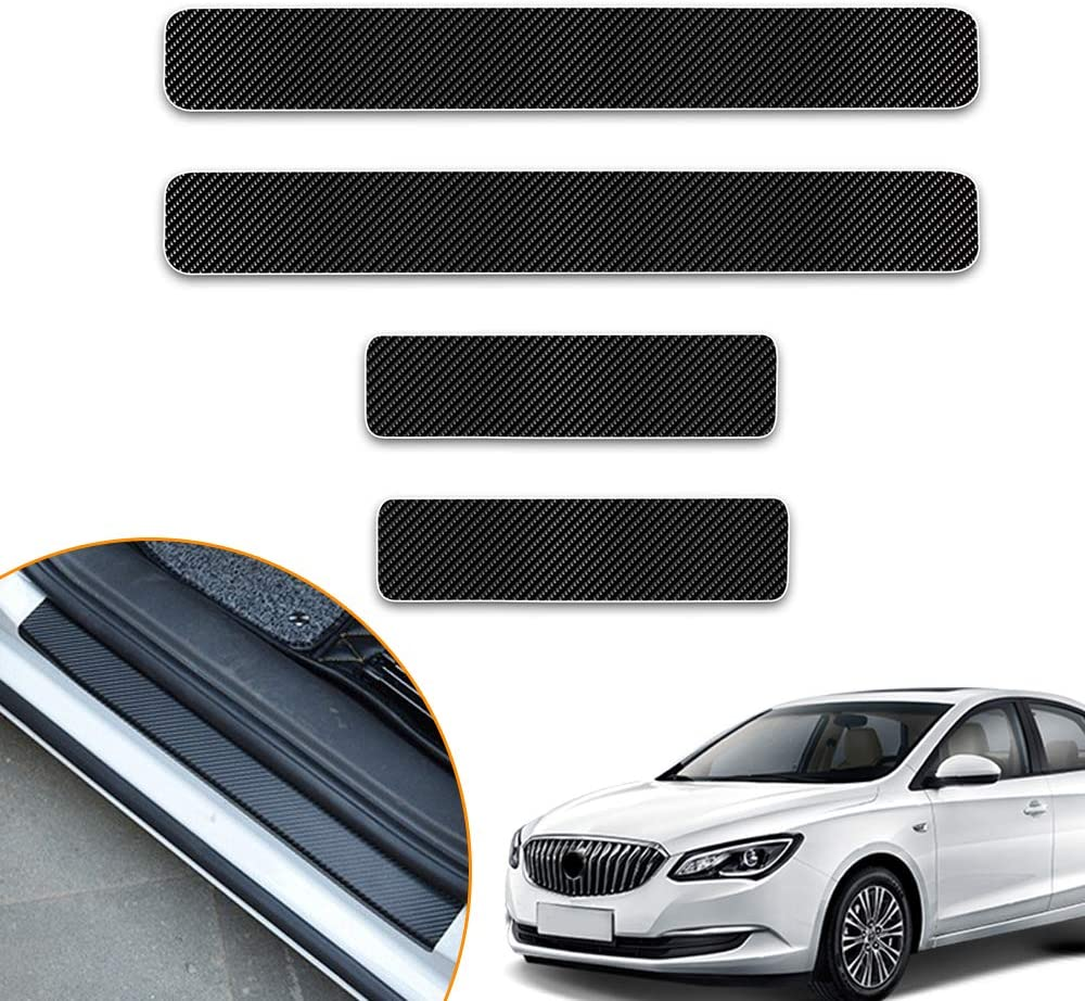 Longzhimei Car Door Sill Protector for VOLVO S60 CX60 XC90 V60 Door Entry Guard Welcome Pedal Threshold 4D Carbon Fiber Stickers Anti-Scratch