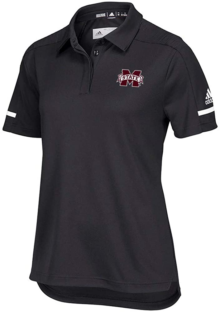 adidas Mississippi State Bulldogs NCAA Women's 2018 Sideline Black Team Iconic Coaches Polo Shirt
