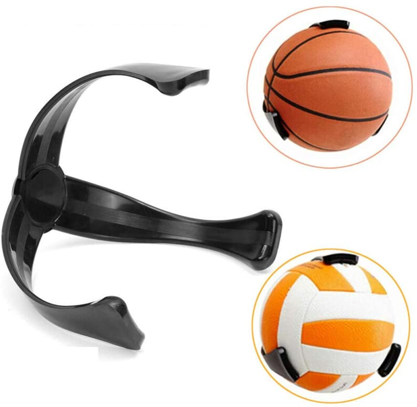 Ball Claws, Basketball Holder for Wall, Ball Storage Decoration Shelf, Basketball Football Soccer Volleyball Wall-Mount Space Saver- Black