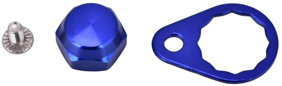 Tbest Screw Nut Cap Bearing Cover for Fishing Reel Left/Right Handle Knob Locking Plate DIY Fishing Accessory 4 Colors Selectable (Pack of 2)(Blue-Left Hand)