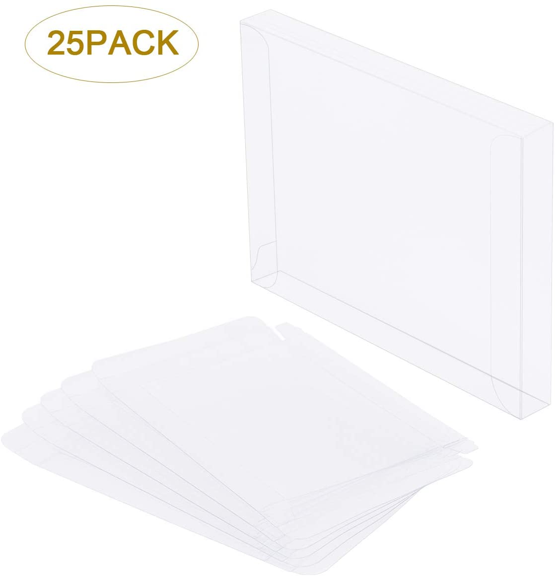 Clear Plastic Boxes for Greeting Cards Transparent Card Box Envelope for Photos Stationery Letters Paper Party Favors, 4.5 x 5.8 x 0.6 inches, 25 Pcs