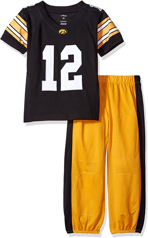 FAST ASLEEP NCAA Boys Toddler/Junior Football Uniform Pajamas