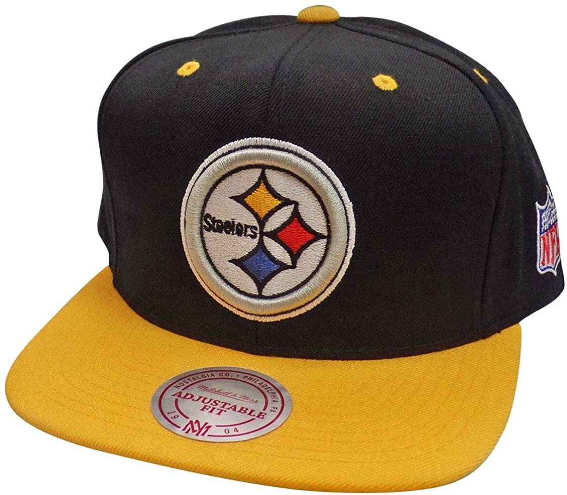 Mitchell & Ness Pittsburgh Steelers Black/Yellow Snapback Hat/Cap