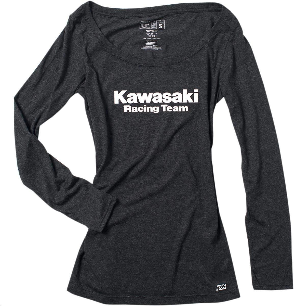 Factory Effex Women's Kawasaki Racing Long Sleeve Shirt (Black, Medium)
