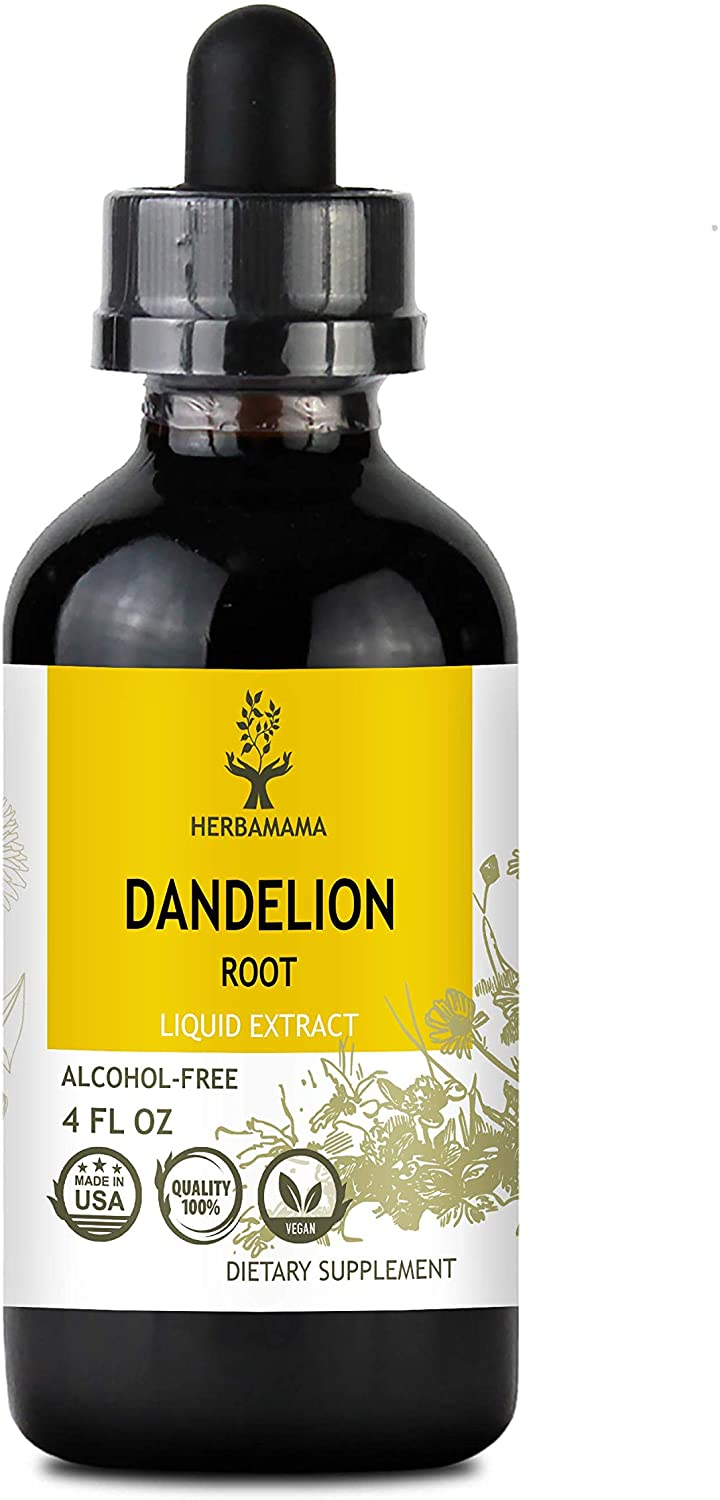 Dandelion Root Liquid Extract 4 fl oz | Rich in Antioxidants | Anti-Inflammatory | Immune System Booster | Blood Pressure Support | Non-GMO