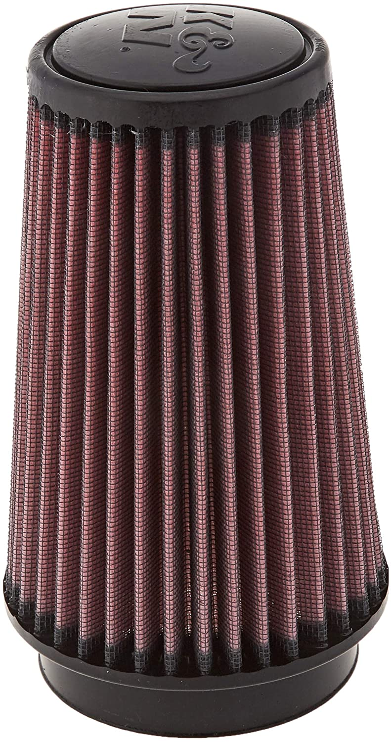 K&N Universal Clamp-On Air Filter: High Performance, Premium, Washable, Replacement Filter: Flange Diameter: 3.5 In, Filter Height: 7 In, Flange Length: 0.875 In, Shape: Round Tapered, RU-3130
