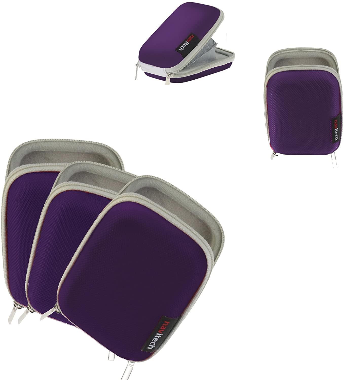 Navitech Purple Water Resistant Hard Case Cover Compatible with The Garmin vivofit jr
