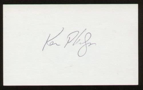 Ken Phelps signed autograph 3x5 index card B2446