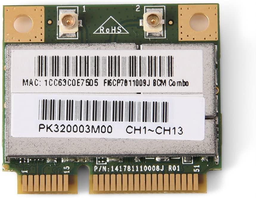 Mugast Mini Bluetooth WiFi Card, 2-in-1 PCI-E Wireless Network Card for Intel/ATI/AMD PCI-E AGP Card Computer, 150 Mbps Transmission Rate, Support 802.11 B/G/N