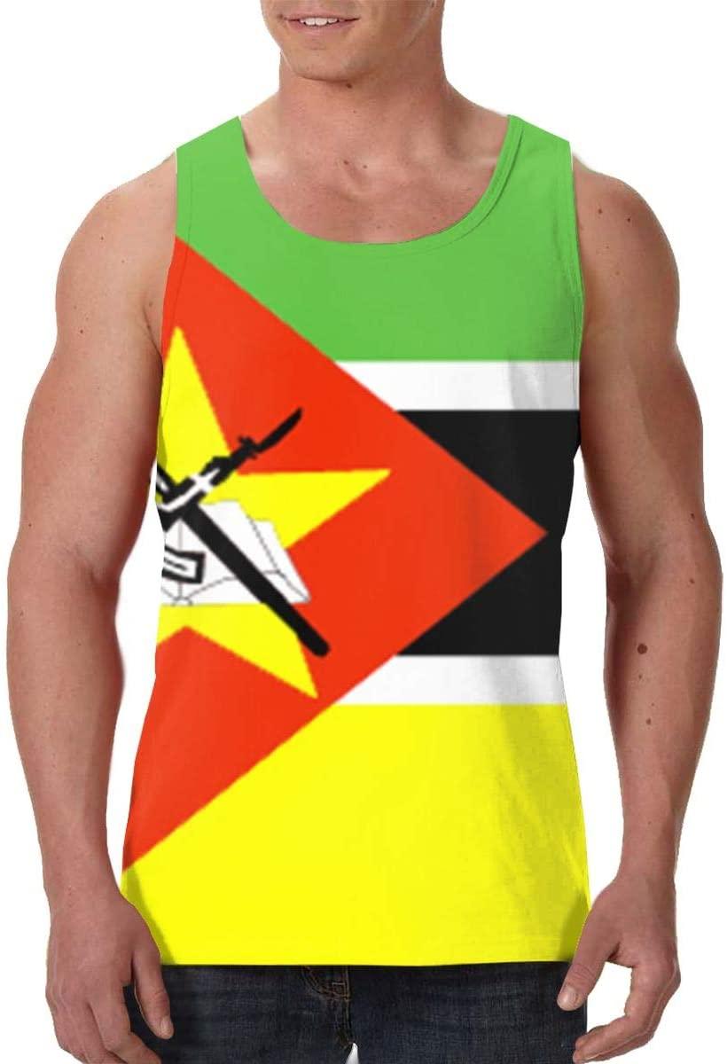 Men's Tank Top Mozambique Flag Custom Workout Vest Sleeveless Shirts