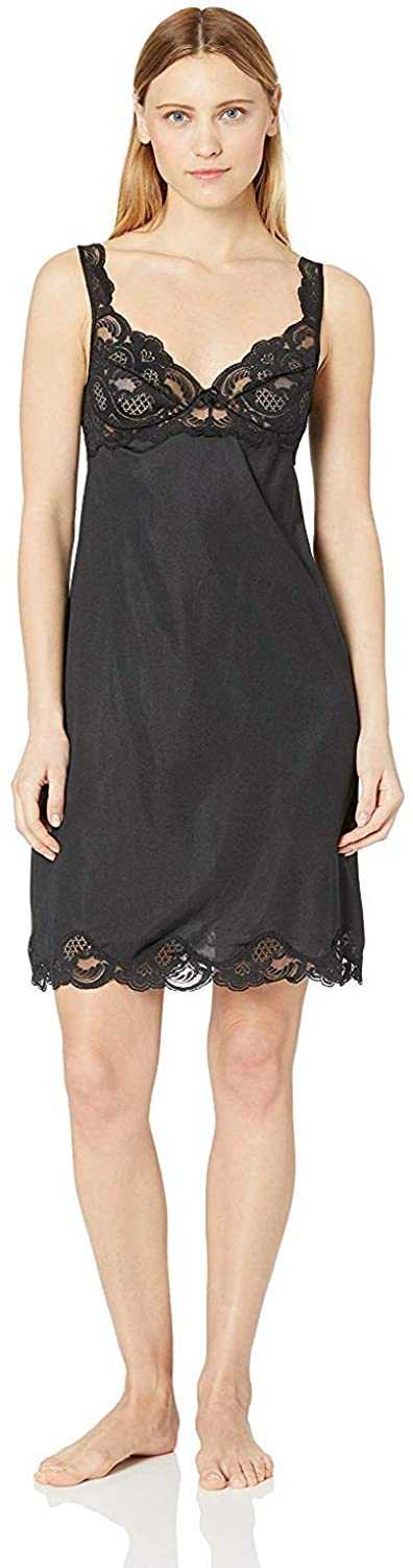 Under Moments Antistatic Vintage-Style Full Slip w/Lace Details(2068) 3 Pack