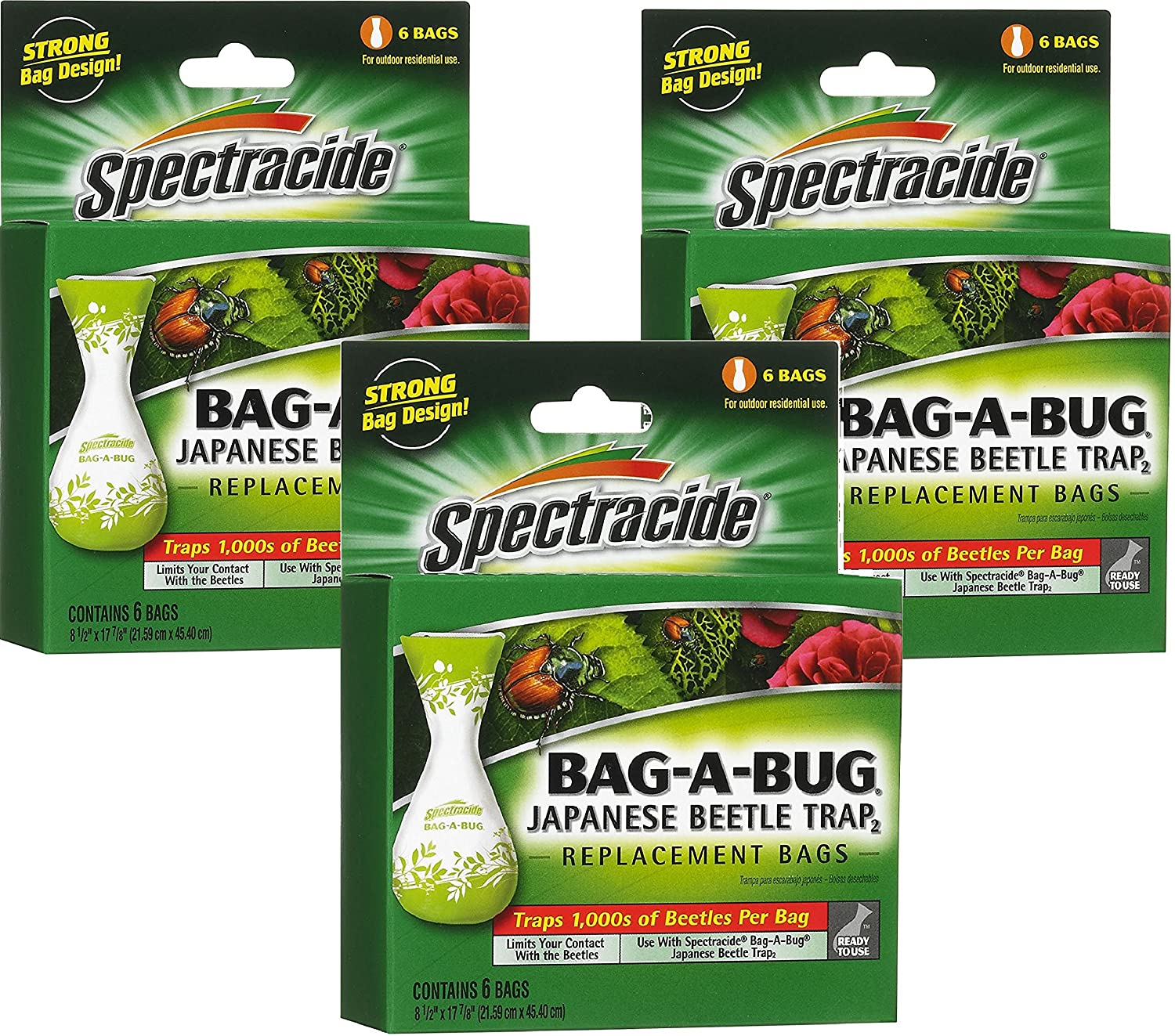 Spectracide Bag-A-Bug Japanese Beetle Trap2-18 Bags Total (3 Packages with 6 Bags Each)