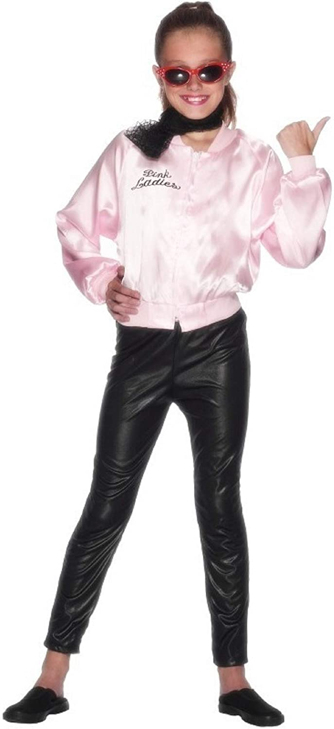 Girls 1950s Grease Pink Lady Book Day Fancy Dress Costume Outfit 3-12 Years
