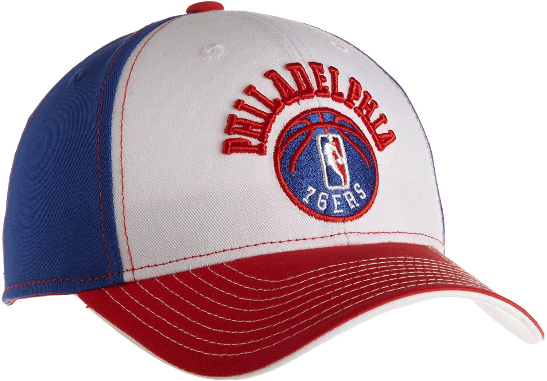 NBA Structured Adjustable Hat - Ne88Z, Philadelphia 76Ers, One Size , Philadelphia 76Ers , White/Blue