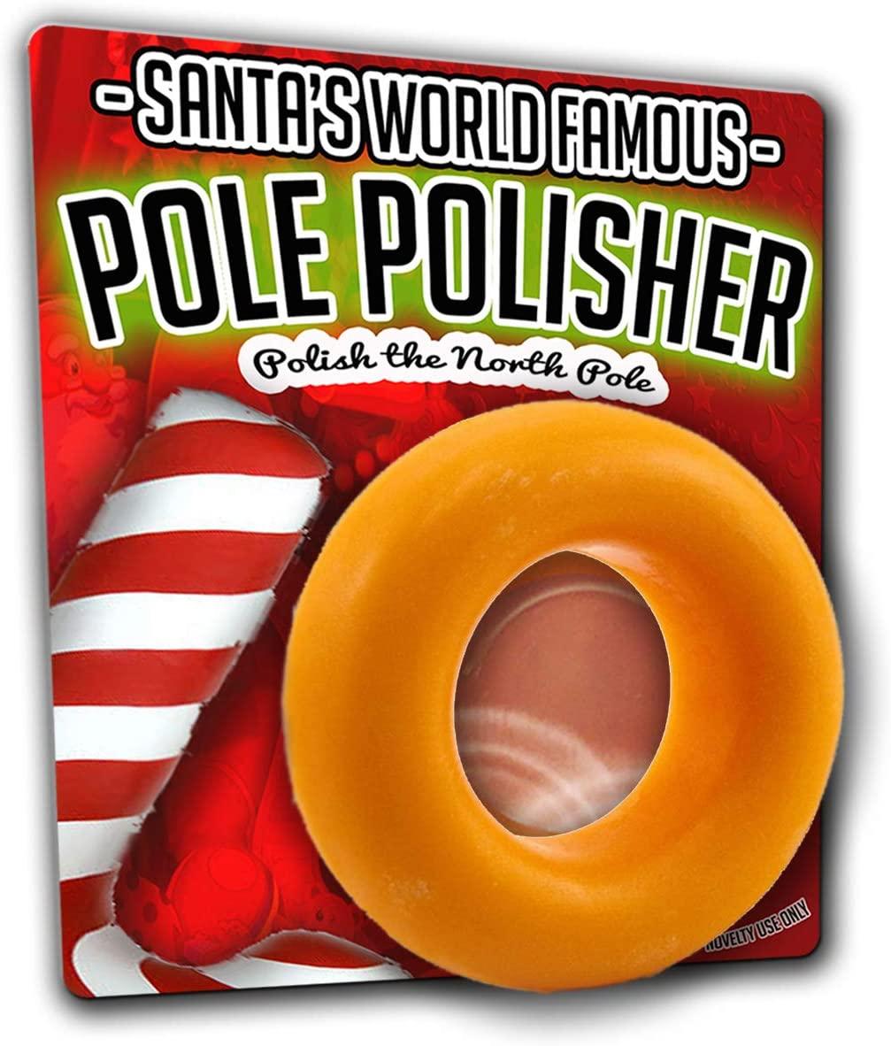 GearsOut Santa's Pole Polisher Soap - Funny Christmas Soap for Men, Gag Gifts, Novelty Bath