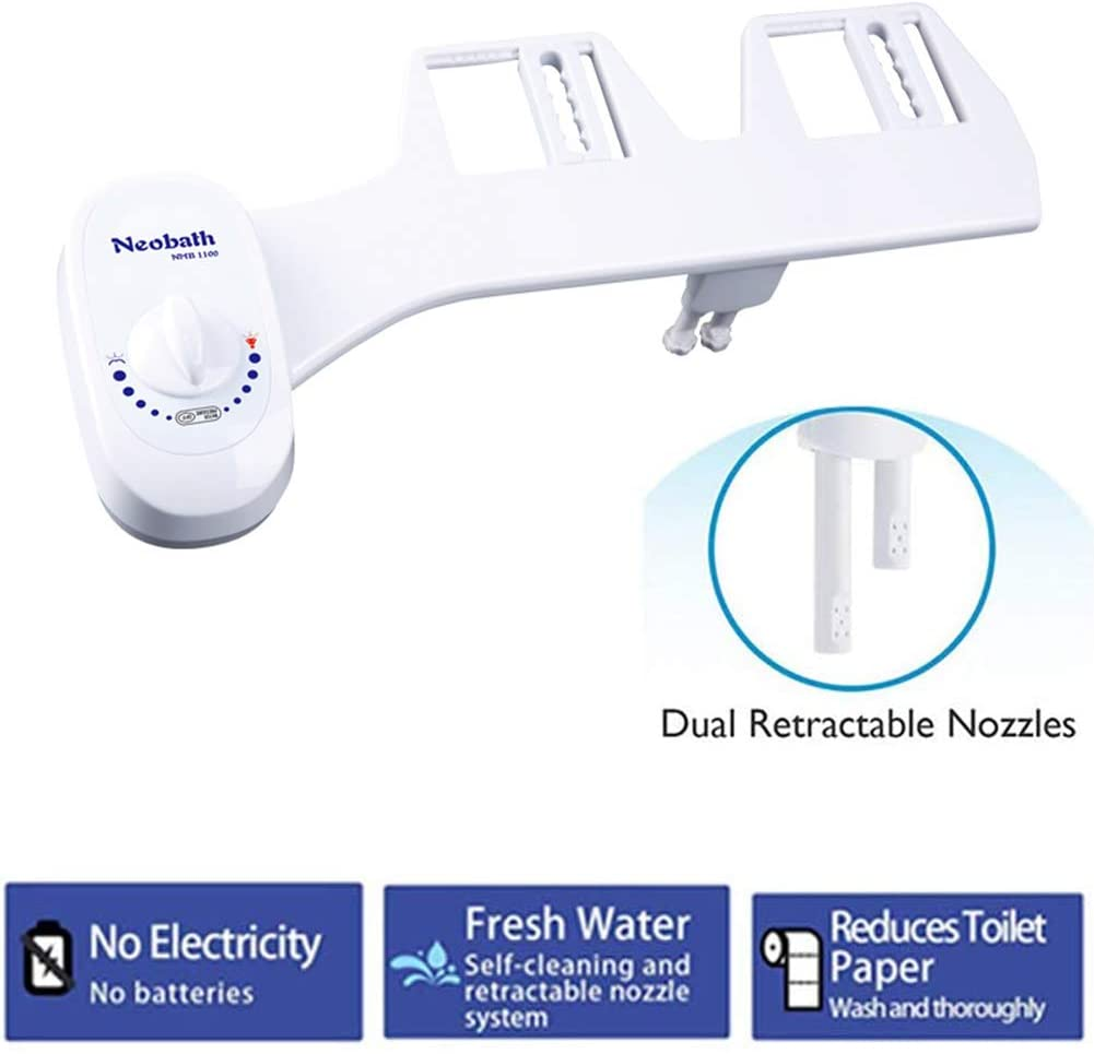 Not-electric Self-cleaning Retractable Nozzle Bidet For Toilet,home Bidet,bidet Toilet Attachment Adjustable Water Pressure Easy To Install White