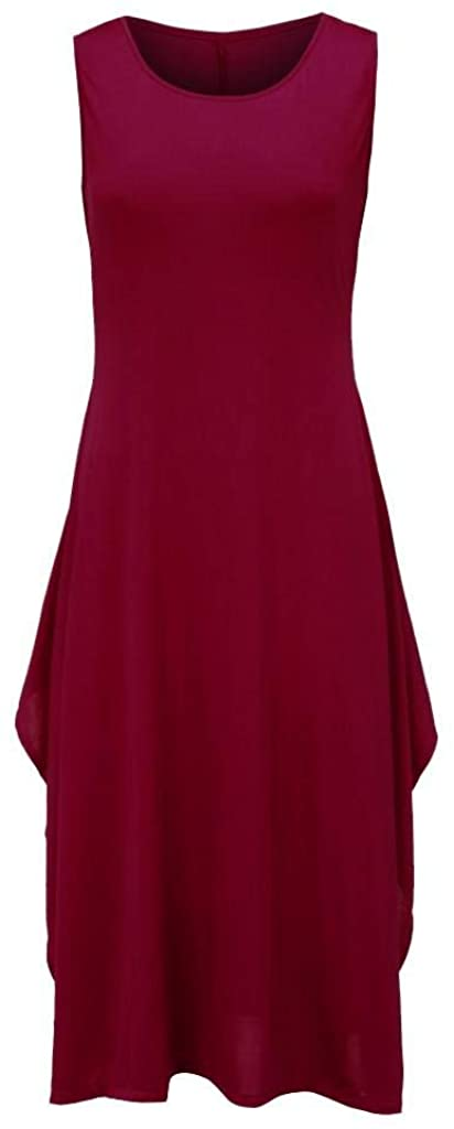 terbklf Womens Plus Size Dresses Special Occasion Sleeveless Dresses for Women Summer with Pockets Office Dress Elegant