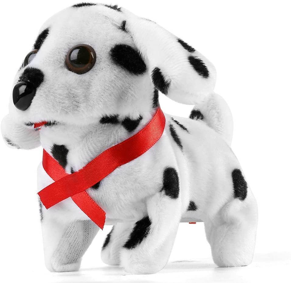 ECCRIS Funny Cute Walking, Barking, Tail Wagging, Nodding Electronic Plush Toy Dog