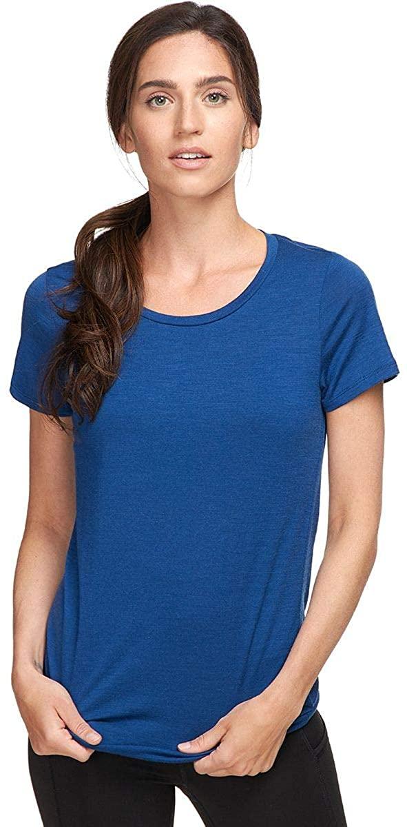 Icebreaker Tech Lite SS Low Crewe Shirt - Women's Estate Blue, XL