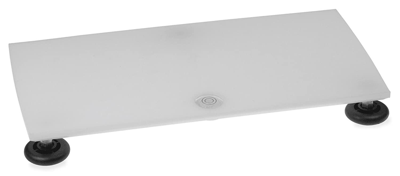 TrippNT 50604 Polyethylene Leveling Table, 16 Width x 1 Height x 8 Depth, White