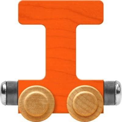 Maple Landmark NameTrain Bright Letter Car T - Made in USA (Orange)