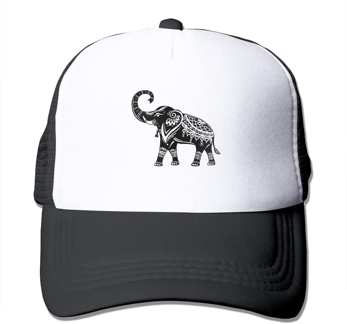 Adult Trucker Hat Decorated Elephant Custom Mesh Caps