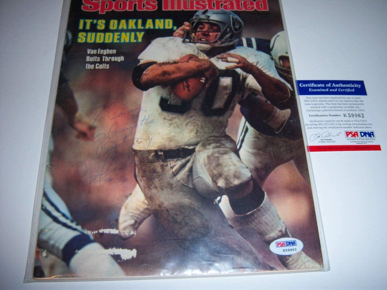 Mark Van Eeghen Autographed Signed Oakland Raiders,Byu PSA/DNA Sports Illustrated