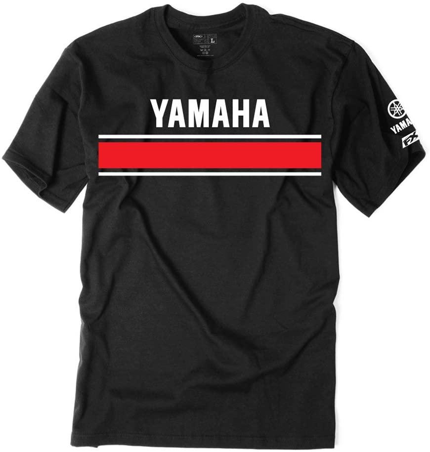 Factory Effex Unisex-Adult Yamaha Retro T-Shirt (Black, Large)