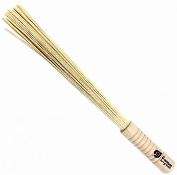 Big Natural Bamboo Massage Broom, from Russia, 100% Environmentally Friendly, for Sauna and Bath, Handmade (Clean, Dry, Fresh)