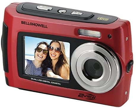 Bell+Howell 2VIEW 18.0MP HD Dual Screen Underwater Digital & Video Camera (Waterproof to 10 ft.), 2.7