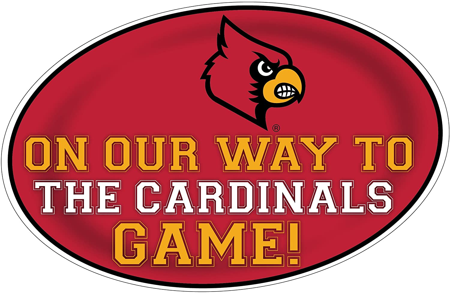 LOUISVILLE CARDINALS HEADING TO THE GAME-UNIVERSITY OF LOUISVILLE 11X17 INCH JUMBO CAR MAGNET